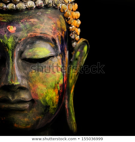 Stock photo: Antique colorful Buddha