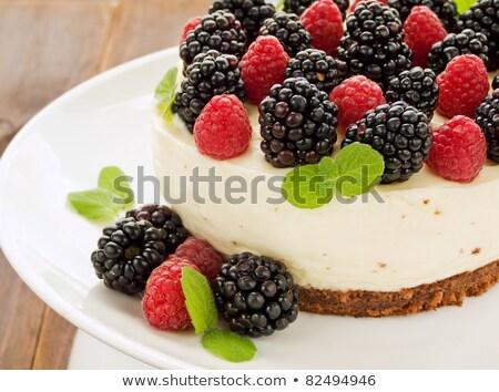 Cake With Blackberries And Raspberries Stockfoto © AGfoto