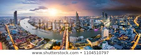 Kilátás Bangkok város Thaiföld üzlet égbolt Stock fotó © Witthaya
