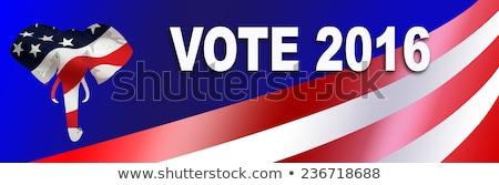 Adesivo 2016 presidencial eleição EUA estrelas Foto stock © rcarner
