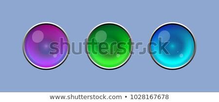 Green alien-like sphere, icon Stock photo © evetodew