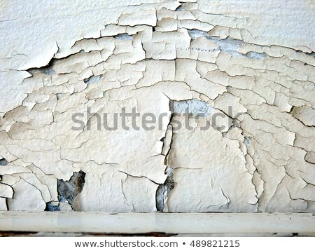 Cracked flaky white paint abstract texture background. Stock photo © latent