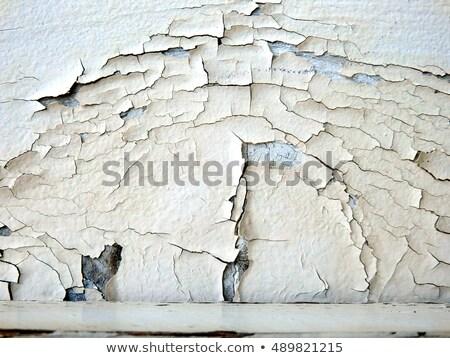 peinture · fissures · pas · détail · bâtiment · blanche - photo stock © latent