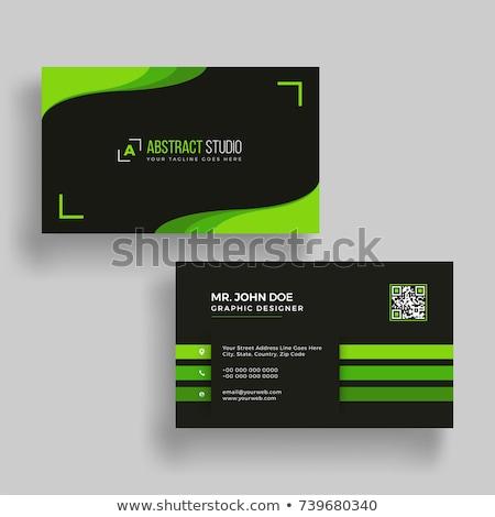 Yeşil iş vektör ayarlamak çizgili dizayn Stok fotoğraf © vipervxw