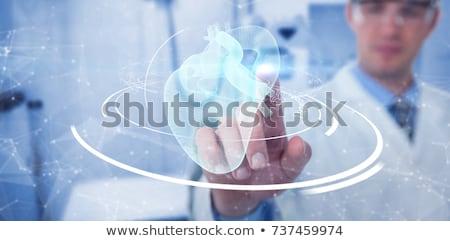 Orvosi orvos dolgozik láthatatlan interfész női Stock fotó © HASLOO