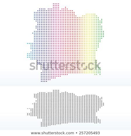 Térkép köztársaság Elefántcsontpart pont minta vektor Stock fotó © Istanbul2009