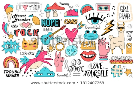 vector set of assorted signs stock photo © slunicko