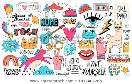 Vektor szett feliratok kéz internet terv Stock fotó © slunicko