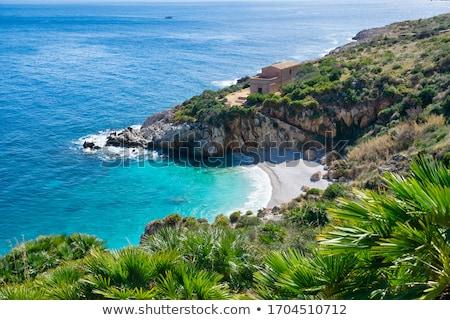 Doğal rezerv sicilya İtalya gökyüzü doğa Stok fotoğraf © kubais