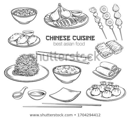 Voedsel China heerlijk ravioli kok lepel Stockfoto © wxin