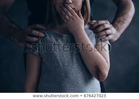 criança · punição · pequeno · menino · parede · canto - foto stock © lightsource