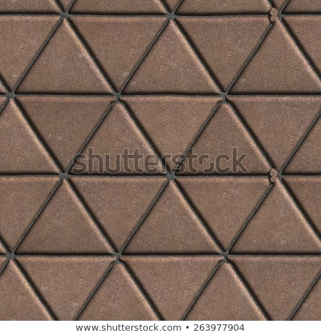 Paving Slabs Brown Pattern of Small Triangles. Stock photo © tashatuvango