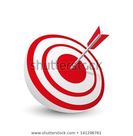 Darts telitalálat tábla zöld piros fekete Stock fotó © ozaiachin