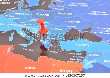 Grecia · ue · banderas · pintado · agrietado · concretas - foto stock © tashatuvango