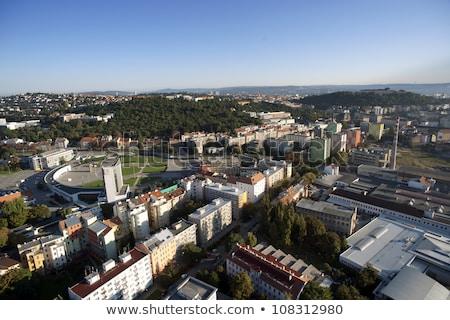 Rendkívül részletes légi városkép kastély katedrális Stock fotó © slunicko