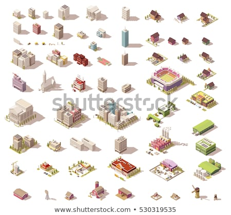 Vector isometric rural set Stock photo © tele52