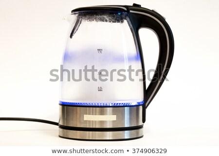 нержавеющая · сталь · электрических · чайник · изолированный · технологий · черный - Сток-фото © ozaiachin