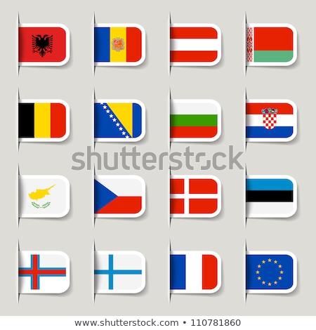 フラグ ラベル エストニア 孤立した 白 にログイン ストックフォト © MikhailMishchenko