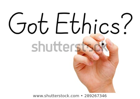 Got Ethics Black Marker Stock photo © ivelin