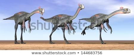 Trei dinozaur 3d face deal negru digital Imagine de stoc © mariephoto