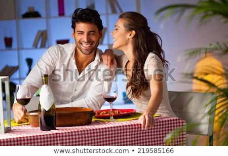 voedsel · restaurant · tabel · vork · vrouwelijke · persoon - stockfoto © master1305
