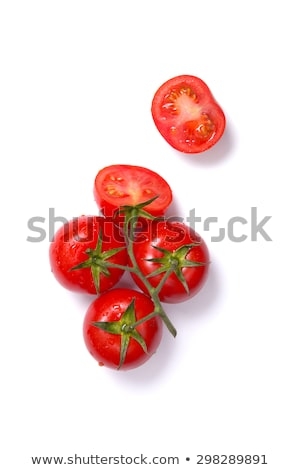Top view of fresh tomatoes, whole and half cut   Stock photo © Elisanth