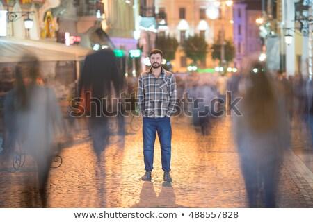 bulanıklık · kalabalık · sokak · insanlar · kamu · açık · havada - stok fotoğraf © stevanovicigor