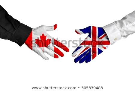 加拿大 握手 手 會議 簽署 旗 商業照片 © Zerbor