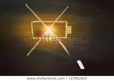 Negative power battery drawn in chalk Stock photo © RAStudio