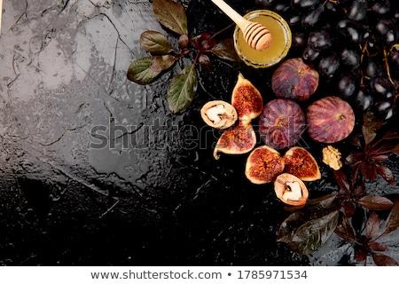 natureza · morta · mel · talheres · flores · nozes - foto stock © mizar_21984