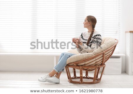 Mooie vrouw drinken koffie ochtend venster portret Stockfoto © nenetus