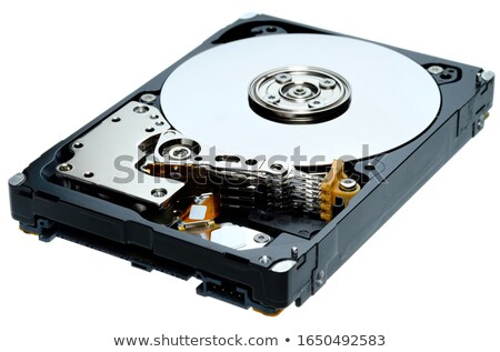 opened hard drive disk with shield Stock photo © netkov1
