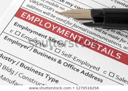 Employement Status Stock photo © fuzzbones0