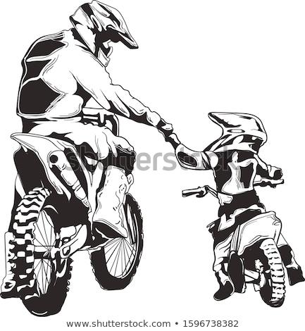 kampioenschap · motorcross · zijaanzicht · rijden · motorfiets · vertragen - stockfoto © fotoedu
