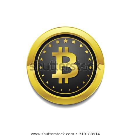 бит монеты вектора икона Сток-фото © rizwanali3d