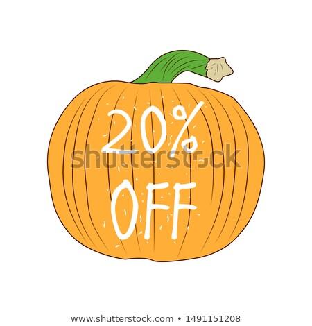 Halloween discount coupon of 20 percent. Halloween pumpkin sale Stock photo © orensila