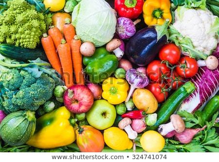 friss · zöldségek · kollázs · bioélelmiszer · zöldségek · természetes · fa - stock fotó © master1305