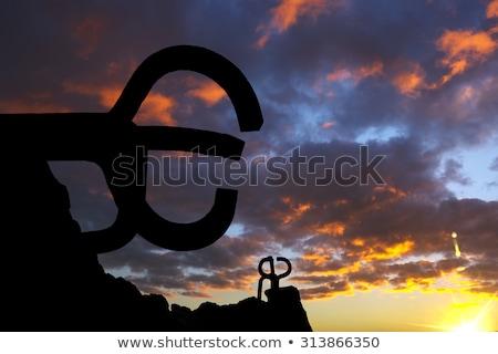 Enferrujado aço escultura mar água abstrato Foto stock © lunamarina