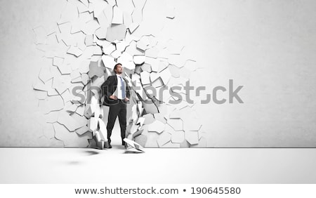 impact on the young businessman Stock photo © Paha_L