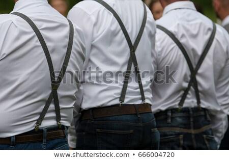 öv feketefehér fekete harisnyakötő izolált fehér Stock fotó © RuslanOmega