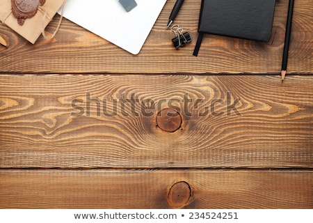 Blank white mailing envelope on office desk Stock photo © stevanovicigor