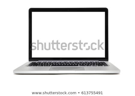 ノートパソコン · 孤立した · 白 · モニター · コピー - ストックフォト © Alsos
