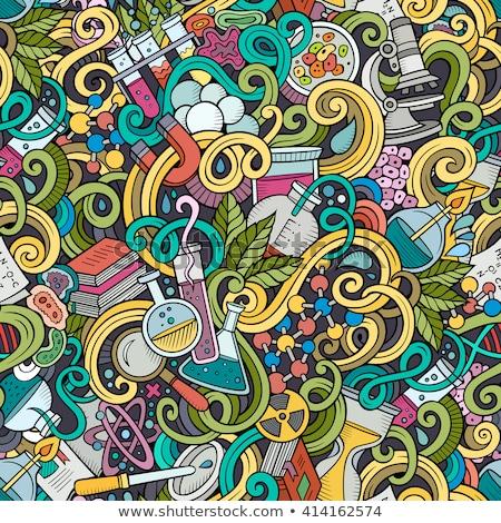 Doodle pattern chemistry Stock photo © netkov1