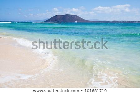 Foto stock: Praia · canárias · Espanha · céu · água · paisagem