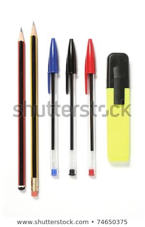gekleurd · pennen · bal · geïsoleerd · witte · business - stockfoto © elaine