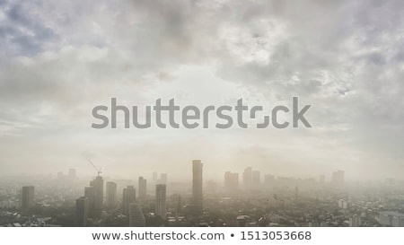 Arranha-céus sol urbano cidade negócio Foto stock © shawlinmohd