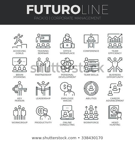 Сток-фото: подготовки · икона · бизнеса · серый · кнопки · дизайна