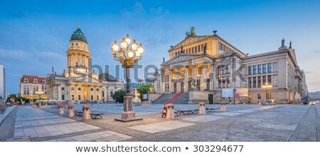 The French Dom in Berlin at night Stock photo © elxeneize