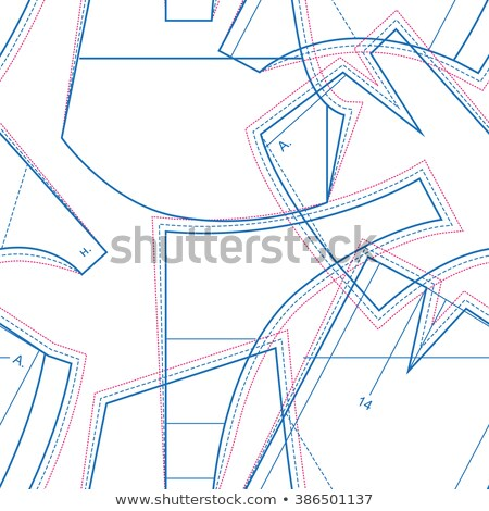 Dressmaking. Circuit pattern clothing. Seamless Pattern Sewing Stock photo © orensila