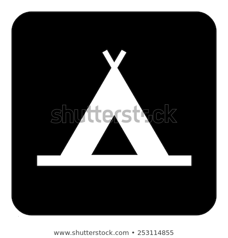 Rounded buttons with camping tents Stock photo © bluering
